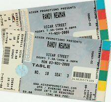 Randy Newman Vicar Street Dublin unused tickets 2008