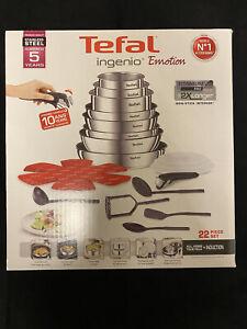 TEFAL INGENIO EMOTION L925SM14 Batterie de cuisine 22 pieces - Tous feux dont in