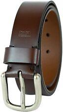 Levi's Men's Leather Bridle Cut Belt Brown