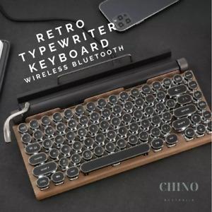 Dot Retro Typewriter Keyboard Wireless Bluetooth Mechanical Keyboard