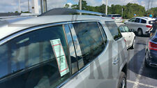 2017 GMC Acadia chrome 6pc pillar post trim moulding polished stainless steel