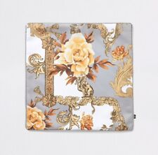 River Island: Grey Floral Baroque Printed Cushion Cover{One Size}