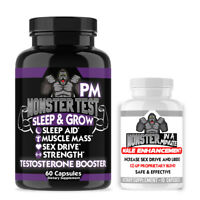 MONSTER TEST PM Testosterone Booster Pill 60ct + Monster Sex Male Enhancement