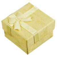 3X(24 Pcs Boites de Cadeaux A Bijoux Carre d'Affichage avec noeud de papill O8X7
