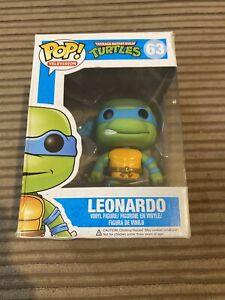#63 Leonardo - Funko POP  - Teenage Mutant Ninja Turtles TMNT *DAMAGED BOX*