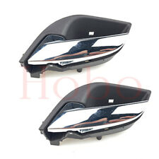 2x For Buick LaCrosse 2009-2015 Black Front+Rear Left Driver Inner Handle Trim