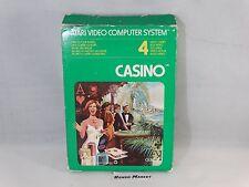 CASINO - ATARI 2600 VCS - VIDEOGIOCO VINTAGE ANNI 80 - COMPLETO
