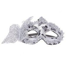 Masque Venitien Venise Plastique Halloween Fete Spectacle Carnaval ARGENT T4R5