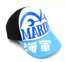 Anime One Piece MARINES Pirates Hat Cosplay Hats Trucker Snapback Baseball Cap
