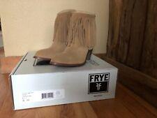 Frye Womens Ilana Fringe Short Sand-76807 Fashion Boots Size 8