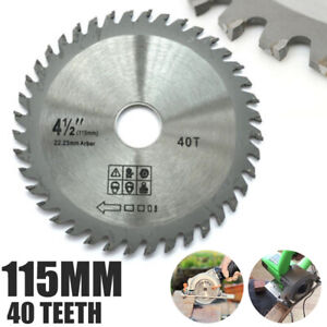 115mm 40T-Mill Chain Circular Saw Blade Disc Bore Wood Cutting For Angle Grinder
