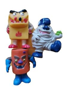 Yowie Sludge, Crudo, Spark Grumkin Mini Figure lot of 3
