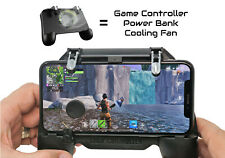 Smartphone L1R1 PUBG Mobile Game Controller Grip with Power Bank + Cooling Fan