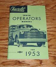 1953 Chevrolet Truck Operators Owners Manual 53 Light Medium Heavy Duty Pickup