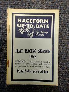 1972 Raceform Up To Date Flat racing season postal subscrip. ed. specimen. B780
