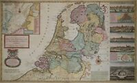 Niederlande, Holland - Rare, große Karte von Herman Moll 1730 - Netherlands