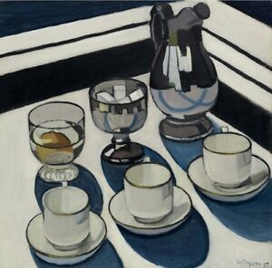 Margaret PRESTON 'Implement Blue' reproduction print- STILL LIFE - VINTAGE STYLE