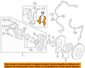 MITSUBISHI OEM 11-18 Outlander Sport Brake-Front-Brake Pads Shim 4605A383