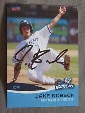 Detroit Tigers Jacob Robson Signed 2017 West Michigan Whitecaps Auto Card