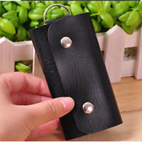 New Men Women PU Leather Key Chain Accessory Pouch Bag Wallet Case Key Holder