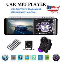 "4.1"" HD Single 1DIN Car Stereo Video MP5 Player BT FM Radio AUX USB SD TF Camera"