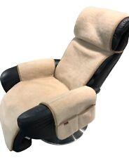 Sesselschoner Relaxsessel Alpaca mit Taschen Überwurf Sitzauflage 100% Wolle