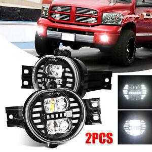 For 2002-2008 Dodge Ram 1500 2500 3500 Pickup Bumper LED Fog Lights Driving Lamp