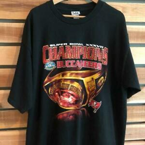 VTG Lee Tampa Bay Buccaneers 2003 Super Bowl Champions Ring Graphic T Shirt 2XL