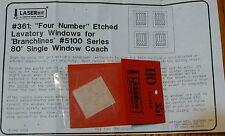 American Model Builders, Inc HO #361 Windows for: Lavatory Branchline 80' Single