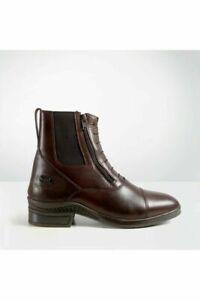 (P)Brogini Vasto Double Zip Paddock Boot - Brown