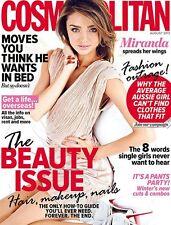 COSMOPOLITAN AUSTRALIA AUGUST 2013 MIRANDA KERR COVER - NEW!!