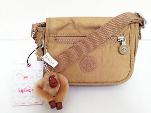 "BNEW Authentic KIPLING Sabian AC7245 Crossbody Sling Bag Golden Glimmer ""Jake"""
