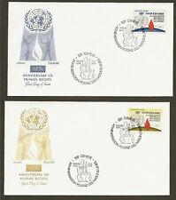 Un Geneva #35-36 25th Anniv.of Human Rights - Set of 2 Artmaster Fdcs