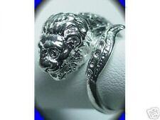 LOOK Thailand Dragon Lion Sterling Silver 925 Buddha Ring Buddha Jewelry New