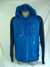 New Mens Large DC Shoes Frat Blue Navy Super Sick Zip Hoody Jacket $58