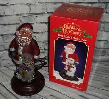 E.M. Merck Old World Christmas 2008 Santa's Helper Glass Night Light