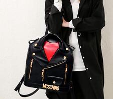 U46 Vintage ladies leather school jacket bags Backpack book shoulder travel bag