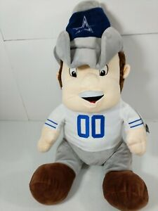 """Dallas Cowboys Rowdy Plush w/ Hidden Blanket Forever Collectibles NFL 21"""" New"""