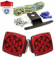 New pair LED trailer lights kit 12v 16 leds DOT Compliant Submersible