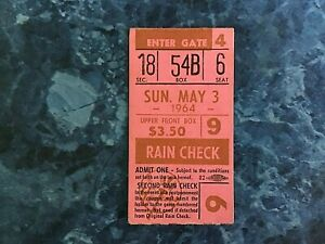 Old New York Yankees  Ticket Stub  - May 3  1964   Mantle/Linz