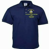 USS HERSHEL WOODY WILLIAMS ESB-3 NAVYANCHOR EMBROIDERED LIGHT WEIGHT POLO SHIRT