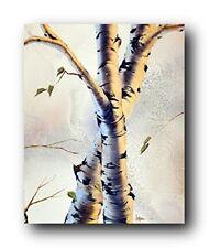 Forest Aspen Tree Wall Decor Art Print Poster (16x20)