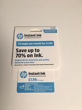 HP Instant Ink Enrolment Card - Worth £1.99 / 50 Pages - for DeskJet Envy etc