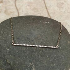 14KT Rose Gold Diamond Bar Chain Necklace