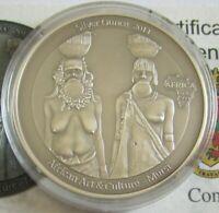 Kongo 1000 Francs 2014 Kunst & Kultur Mursi 1 Oz Silber