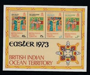BRITISH INDIAN OCEAN TERRITORY Easter 1973 MNH souvenir sheet