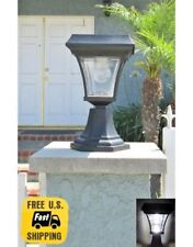 1 Solar Fence Gate Lamp Post Light 4 LEDs For Wood Mason Stone Brick Concrete