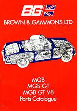 Brown and Gammons MG parts catalogue