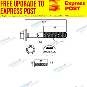 2006-2007 For Jeep Commander XH EVA Head Bolt Set