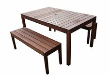 Outdoor Supreme 3pc 1.5m Table Bench Set